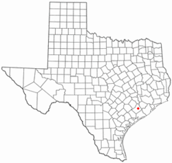 Location of Wharton, Texas