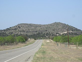 Uvalde County, Texas - Texas State Highway 55 as it meanders through scenic northwestern Uvalde County near the Nueces River
