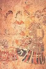 Mural painting from the Takamatsuzuka Tomb