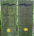 Take one Millennium guidepost and share two stories - geograph.org.uk - 924708.jpg