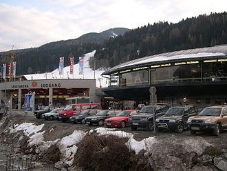 Leogang - Image: Talstation Asitzbahn Leogang