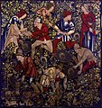 """Tapestry in the Burrell Collection, """"Peasants Hunting Rabbits with Ferrets"""" (8547361188).jpg"""