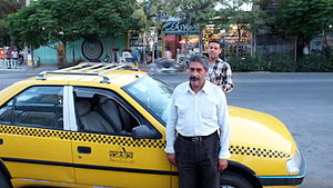 Kashmar - Image: Taxi and taxi driver