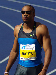 Angelo Taylor American track and field athlete