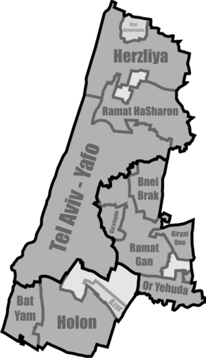 Tel Aviv District - Map