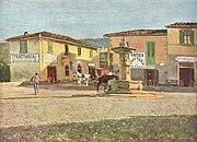 La piazza di Settignano, Telemaco Signorini, 1880