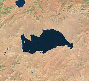 Telmen Lake - Telmen Lake satellite view