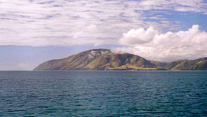 Cape Terawhiti - Cape Terawhiti seen from on board the Cook Strait ferry.