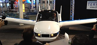 Terrafugia Transition - Production Prototype with wings extended at New York Int'l Auto Show in April, 2012