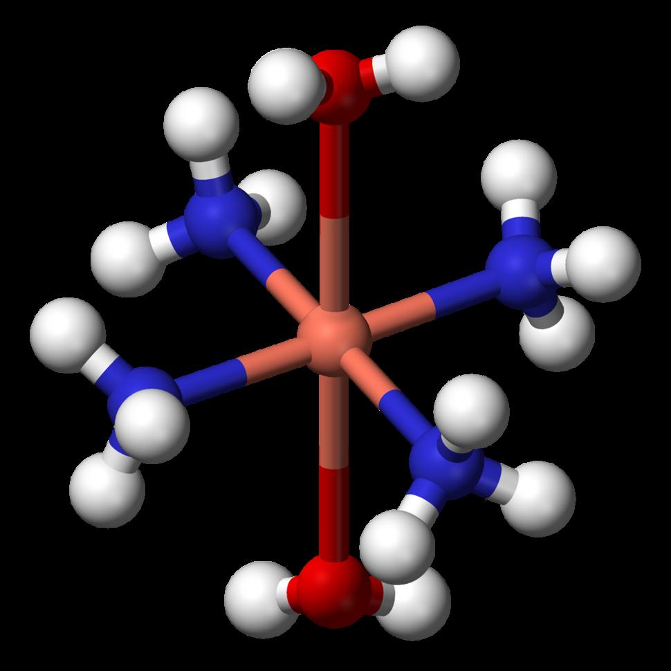 Tetraamminediaquacopper(II)-3D-balls