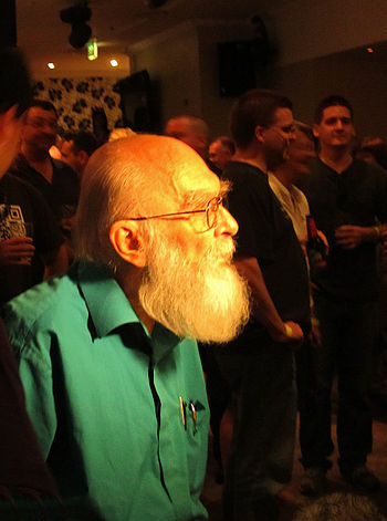 James Randi in Sydney as a speaker at the TAMo...