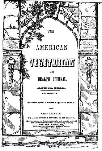 William Alcott - The American Vegetarian and Health Journal - Published by The American Vegetarian Society (AVS) - 1853