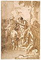 The Baptism of Christ (with Christ Standing at Left Center, His Back Turned, and a Youth Stripping in the Right Foreground) MET DT3225.jpg