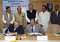The Chairman, Railway Board, Shri Vinay Mittal and the Chief Secretary, Government of Chhattisgarh, Shri Sunil Kumar signing an Memorandum of Understanding (MOU) for the development of rail corridors in Chhattisgarh state.jpg