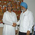 The Chief Minister of Tripura, Shri Manik Sarkar meeting the Deputy Chairman, Planning Commission, Shri Montek Singh Ahluwalia to finalize Annual Plan 2010-11 of the State, in New Delhi on April 06, 2010.jpg