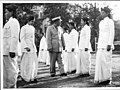 The Commissioner of Police inspects a guard of honor represented by the Calcutta Women Police in 1950.jpg