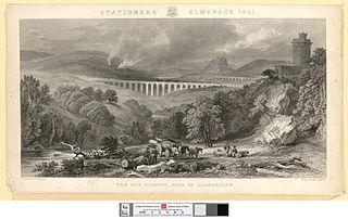 The Dee viaduct, vale of Llangollen