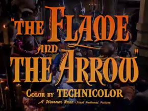 Description de l'image  The Flame and the Arrow by Jacques Tourneur 1950.png.