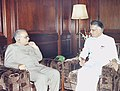 The Governor of Karnataka Shri T.N. Chaturvedi calls on the Union Home Minister Shri Shivraj Patil in New Delhi on July 15, 2004.jpg