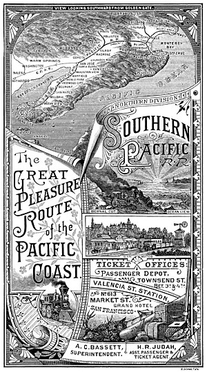 Peninsula Commute - Pictoral map of system in 1885