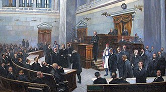 Hellenic Parliament - The Parliament in session in the Old Parliament House, at the end of the 19th century