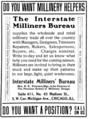 The Illustrated Milliner, Volume 7, Issue 7, advertisement - Interstate Milliners' Bureau.png