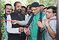 The Minister of State for Chemicals & Fertilizers, Shri Hansraj Gangaram Ahir inaugurating the First Jan Aushadhi Store, in New Delhi on June 05, 2015.jpg