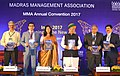 The Minister of State for Finance and Corporate Affairs, Shri Arjun Ram Meghwal releasing a book 'Business Mandate', brought out by the Madras Management Association at the Annual Convention 2017, in Chennai.jpg