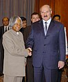 The President of Belarus, Mr. Aleksandr Lukashenko meeting with the President, Dr. A.P.J. Abdul Kalam at Rashtrapati Bhavan, in New Delhi on April 16, 2007.jpg