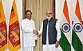 The President of the Democratic Socialist Republic of Sri Lanka, Mr. Maithripala Sirisena meeting the Prime Minister, Shri Narendra Modi, at Hyderabad House, in New Delhi on May 13, 2016 (1).jpg