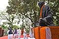 The Prime Minister, Shri Narendra Modi paying homage at the statue of Mahatma Gandhi, at Motihari, in Bihar.jpg