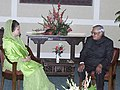 The Prime Minister of Bangladesh Begum Khaleda Zia called on the Prime Minister Shri Atal Bihari Vajpayee on the sideline of 12th SAARC Summit in Islamabad on January 5, 2004 (1).jpg