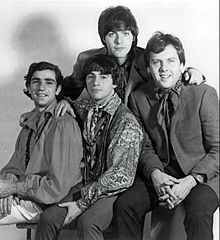 The band in 1966. Standing in back: Dino Danelli. Sitting in front (L-R): Felix Cavaliere, Eddie Brigati and Gene Cornish