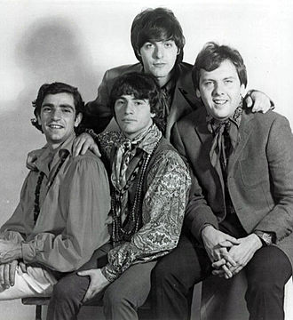 The Rascals - The band in 1966. Standing in back: Dino Danelli. Sitting in front (L-R): Felix Cavaliere, Eddie Brigati and Gene Cornish