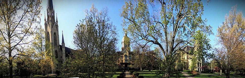 "The University of Notre Dame ""God Quad"""
