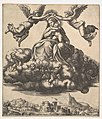 The Virgin seated on clouds being crowned by angels MET DP824415.jpg