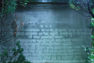 Patrick Lindesay - The highly obscured grave of Sir Patrick Lindesay, Inveresk