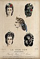 The heads of five women with braided hair dressed with flowe Wellcome V0019877ER.jpg