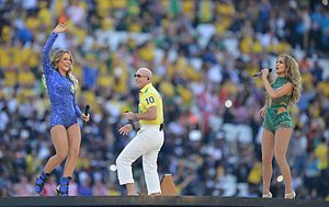 "We Are One (Ole Ola) -  Pitbull, Leitte and Lopez performing ""We Are One"" at the 2014 FIFA World Cup opening ceremony"