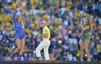"""We Are One (Ole Ola) -  Pitbull, Leitte and Lopez performing """"We Are One"""" at the 2014 FIFA World Cup opening ceremony"""