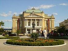Teatro Nazionale Croato HNK Ivan pl.Zajc, sede anche del Dramma Italiano