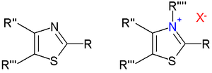 Thiazoles and thiazolium salts