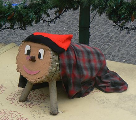 A tio exhibited at Placa Sant Jaume in Barcelona in the 2010-2011 Christmas season. Tio de Nadal.jpg