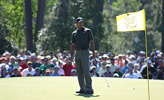 Augusta, Georgia - Tiger Woods at the practice rounds for the 2006 Masters Tournament