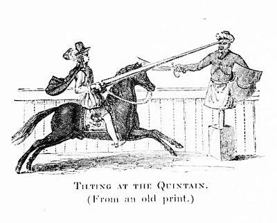 Tilting at the Quintain. (From an old print.).jpg