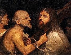 Christ Carrying the Cross (Titian) - Image: Tiziano o giorgione, cristo portacroce