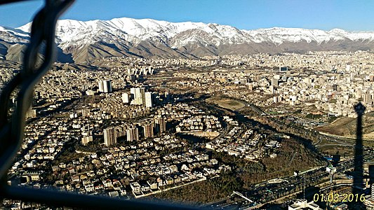 Tochal view from Milad Tower