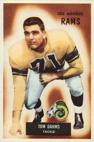 Tom Dahms - Dahms on a 1955 Bowman football card