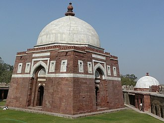 Indo-Islamic architecture - Tomb of Ghiyath al-Din Tughluq (d. 1325), Delhi