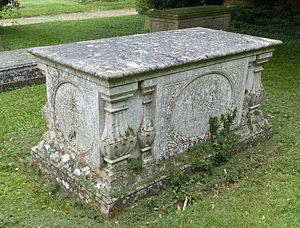 Gilbert Heathcote-Drummond-Willoughby, 1st Earl of Ancaster - Burial place, in the churchyard of the Church of St. Michael and All Angels, Edenham, Lincolnshire